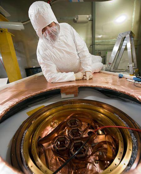 Rumores dizem que os detectores do CDM (acima) identificaram as partículas da matéria escura.