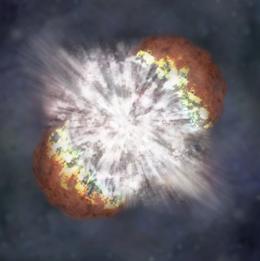 O colapso de uma estrela massiva, criou um tipo nunca antes visto de supernova.