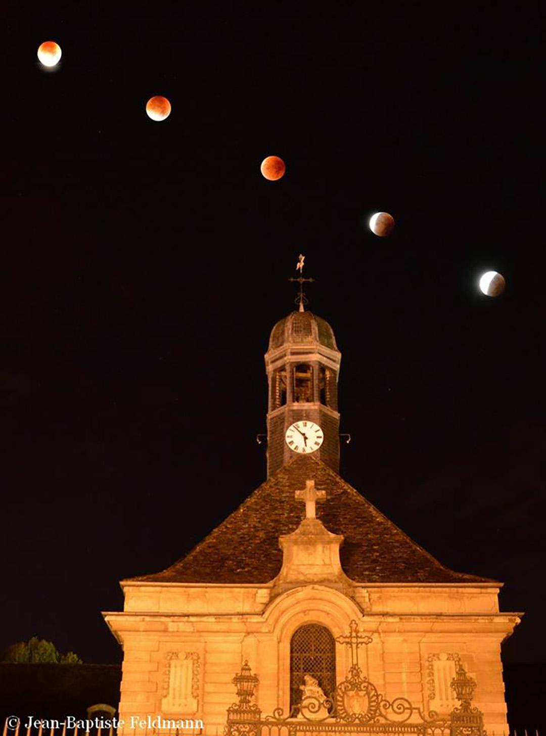 """Un petit montage pour clore en beauté la série """"éclipse de Lune"""" ; belle journée à tous smile emoticon http://blogs.futura-sciences.com/feldmann/ -  Jean-Baptiste Feldmann."""