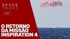 O RETORNO DA MISSÃO INSPIRATION 4 - AO VIVO